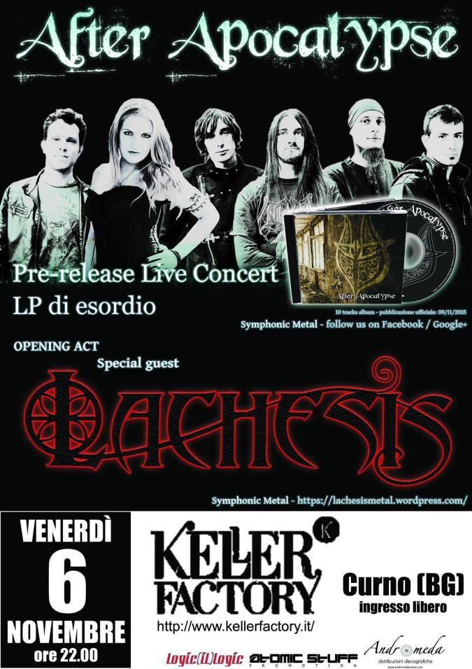 Lachesis Symphonic Metal - manifesto Keller 6 NOV 2015