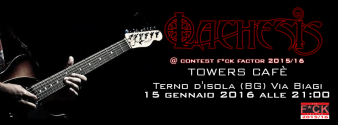 Lachesis - Symphonic Metal - Concerto Live Towers Cafe Terno d'Isola - Banner